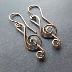 Treble Clef Earrings, Music Note Jewelry, Oxidized Copper Jewelry, Music Nerd Gift,Musical Notes,Treble Clef Note, Treble Clefs Art by WireMoonJewelry on Etsy