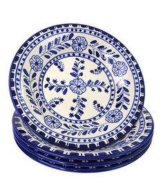 Loving this Azoura Stoneware Pasta/Salad Bowl - Set of Four on #zulily! #zulilyfinds