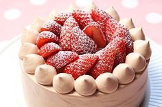 苺チョコショートケーキ