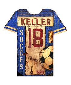 Take a look at this Red Horse Signs Soccer Jersey Personalized Wall Art by Red Horse Signs on #zulily today!