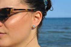 Aquamarine Earrings, Silver Earrings, Diamond Earrings, Minimalist Earrings, Etsy Earrings, Jewelry Gifts, 18k Gold, Delicate, Gemstones