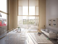Mixed use development . Lan Architecture, Mixed Use Development, Construction, Dining Bench, Divider, Windows, House, Furniture, Home Decor