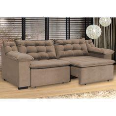 Compre Sofá 4 Lugares Assento 1,05m Retrátil Confort Umaflex Marrom em até 10x sem juros e entrega para todo Brasil. Aproveite!