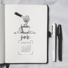 27 Thirst-Quenching Coffee bullet journal layout s. - 27 Thirst-Quenching Coffee bullet journal layout s. Bullet Journal 2019, Bullet Journal Ideas Pages, Bullet Journal Spread, Bullet Journal Layout, Bullet Journal Inspiration, Journal Pages, Journals, Journal Covers, Bullet Journal Month Page