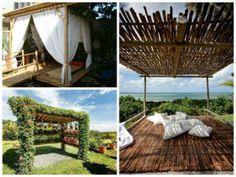 modelos de pergolados em bambu