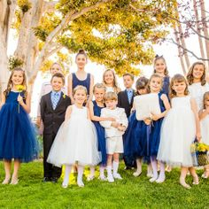 Blue and White Flower Girls and Ring Bearers | Beautiful Day Photography | TheKnot.com