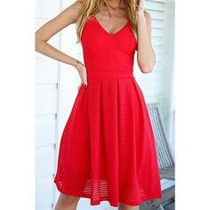 Sexy Spaghetti Strap Backless Zippered Dress For Women