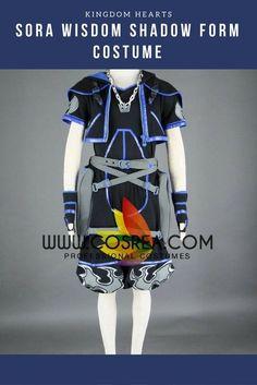 Kingdom Hearts II Sora Wisdom Shadow Form Cosplay Costume
