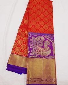 No photo description available. Kanjivaram Sarees Silk, Crepe Silk Sarees, Kanchipuram Saree, Pure Silk Sarees, Bridal Hairstyle Indian Wedding, Bridal Wedding Dresses, Ethnic Sarees, Indian Sarees, Saree Color Combinations