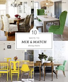 How to mix and match dining room chairs | My Paradissi