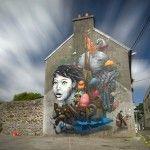 Street Art by Liliwenn & Bom K in Brest City, France 1