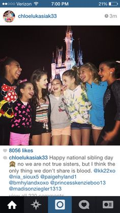 What Chloe posted today..... They obviously all have a bond that can't be broken!!