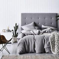 Grey Marle Vintage Washed Linen Quilt Cover                                                                                                                                                                                 More