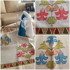 Hesap işi Hardanger Embroidery, Ribbon Embroidery, Machine Embroidery, Cross Stitch Patterns, Knitting Patterns, Crochet Pillow, Sewing Art, Quilt Stitching, Bargello
