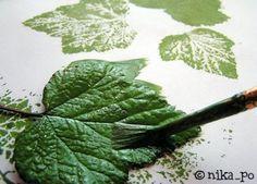 Нетрадиционное рисование - рисуем листьями