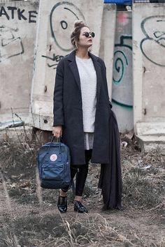More looks by Dani: http://lb.nu/petite_fabeli  #casual #classic #street #grey #rucksack #streetfashion #streetstyle
