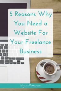 Every freelancer needs their own website! Directing potential clients to social media accounts simply won't do. Click on over to find out 5 reasons why you need a website for your freelance business, plus how we can make it happen together in the FREE Begin Your Biz Challenge community group...