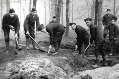 Manchester Regiment Trench digging in Heaton Park