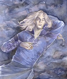 Finrod dreaming by the waters of Sirion - Jenny Dolfen