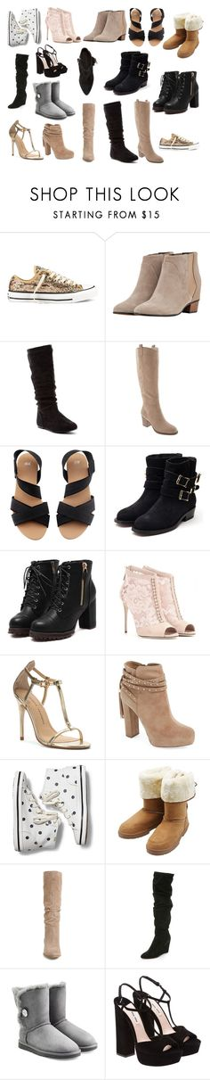 """Which Shoes?!"" by darkfox137 ❤ liked on Polyvore featuring Converse, Golden Goose, Old Navy, H&M, Rupert Sanderson, Dolce&Gabbana, Chinese Laundry, Jessica Simpson, Keds and M&Co"