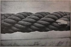 Inspiration:  Giant rope (vintage photo, photographer unknown).