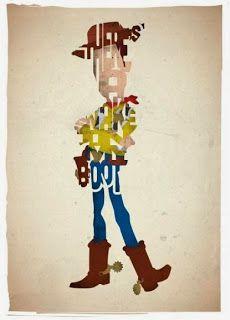 Woody Toy Story - Cartazes tipográficos com personagens do cinema