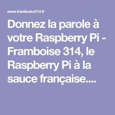 Donnez la parole à votre Raspberry Pi - Framboise 314, le Raspberry Pi à la sauce française....
