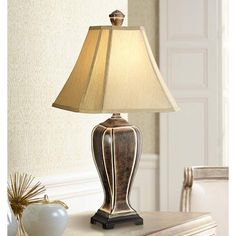 Desert Crackle Transitional Table Lamp - #07069 | Lamps Plus