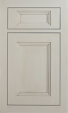 Murray Hill Recessed by #WoodMode, shown in Classic Opaque Vintage Bright White on MDF.