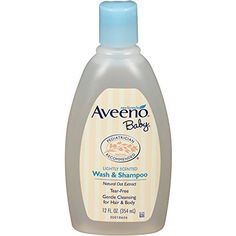 Aveeno Baby wash and Shampoo, natural oat formula - lightly scented 12 oz. (Pack of 6)