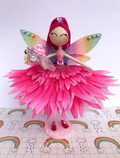 Pink Flower Fairy Doll Princess Fairy Ornament Gift for