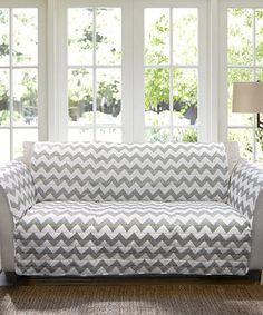 Gray & White Chevron Sofa Protector. Zuliliy has a huge selection of furniture protectors.