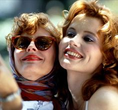 "On the anniversary of Thelma & Louise, Susan Sarandon and Geena Davis dished about the movie and their ""special"" costar Brad Pitt Thelma Louise, Susan Sarandon, Brad Pitt, Geena Davis, Love Movie, Movie Stars, Movie Tv, Buddy Movie, Movie Trivia"