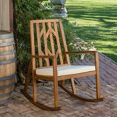 Buy Monterey Outdoor Rocking Chair w/ Cushion by GDFStudio on Dot & Bo
