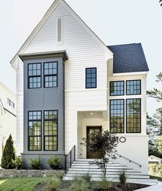 Exterior Brick Modern Classic House Classic Traditional Home Exterior Designs You'll Adore. Southern Traditional House Plans Home Design NDG . Modern House Interior Decoration That You Can Plan Amaza . Home and furniture ideas is here Br House, Modern Farmhouse Exterior, Modern House Exteriors, Farmhouse Style, Modern Brick House, Farmhouse Office, Modern Farmhouse Design, Craftsman Exterior, Farmhouse Windows