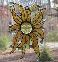 Stained Glass Suncatcher Sun Rays in by CartersStainedGlass, $35.00