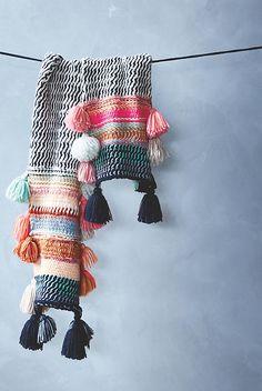Rainbow Tassel Scarf