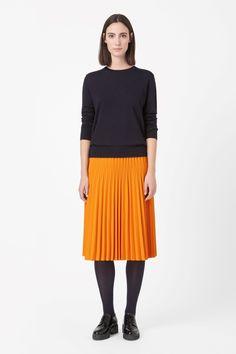 COS   Raw-cut pleated skirt