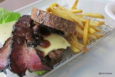 Pastrami burger with fries at AoA.  This food court is amazing!