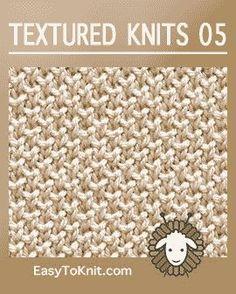 Textured Knits: Quick and easy - knitting Knitting Basics, Dishcloth Knitting Patterns, Knitting Stiches, Knit Dishcloth, Loom Knitting, Knit Stitches, Easy Knitting, Knitting Squares, Crochet Patterns