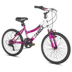 "Mountain Bike For Girls 20"" Kids Bicycle 6 Speed All Terrain Suspension Pink #kidsmountianbike #girlsbike #20bike #girlsbicycle"