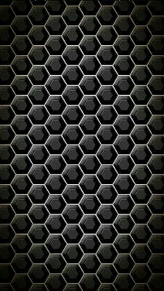 Hex mesh iphone wallpaper:: black wallpaper is an android ap Apple Wallpaper Iphone, Cellphone Wallpaper, Dark Wallpaper, Mobile Wallpaper, Dark Backgrounds, Wallpaper Backgrounds, 3d Texture, Black And White Pictures, Geometric Designs