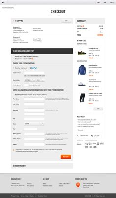 Nike.com by Erik Herrström, via Behance #checkout #ecommerce
