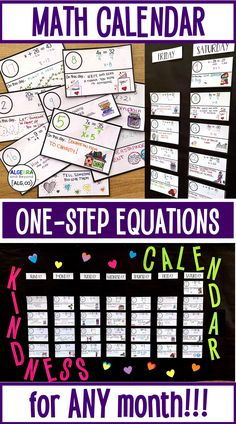 Solving One-Step Equations Math Calendar – School Calendar İdeas. Math Teacher, Teaching Math, Math Class, High School Calendar, One Step Equations, Calendar Activities, Gymnasium, Math Lessons, First Step