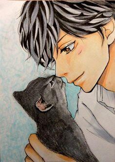 Hiiiii que lindo ao haru ride Anime Chibi, Kawaii Anime, Manga Anime, Ao Haru Ride Anime, Futaba Y Kou, Ride Drawing, Tanaka Kou, Best Romance Anime, Fanart Manga