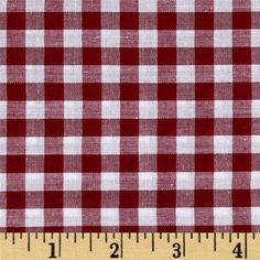 This light weight woven yarn dyed gingham fabric is extremely versatile. It can be used to create stylish summer dresses, children's apparel and blouses. It can also be used to make tablecloths, curtains and more!  Checks measure 1/4''. Remember to allow extra yardage for pattern matching.