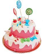 What is Fondant? Beautiful Cake Designs, Beautiful Cakes, Amazing Cakes, What Is Fondant, Cake Stock, Pink Birthday Cakes, Candy Cakes, Girl Cakes, Sweet Cakes
