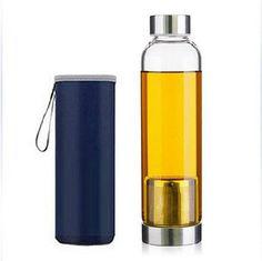 Glass Water Bottle Whit Tea Infusers
