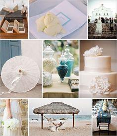 white/blue wedding ideas