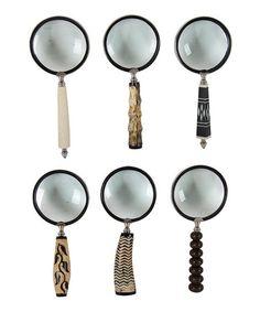 Established 98 Ornate Magnifying Glass - Set of Six | zulily
